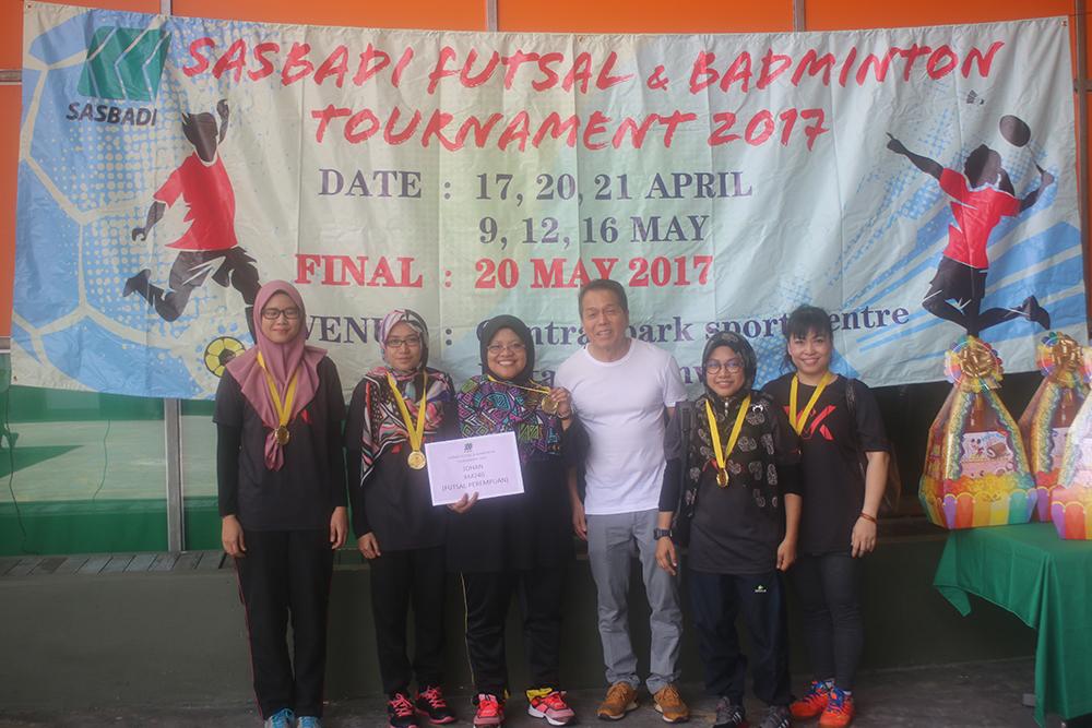 Pertandingan Futsal dan Badminton 2017